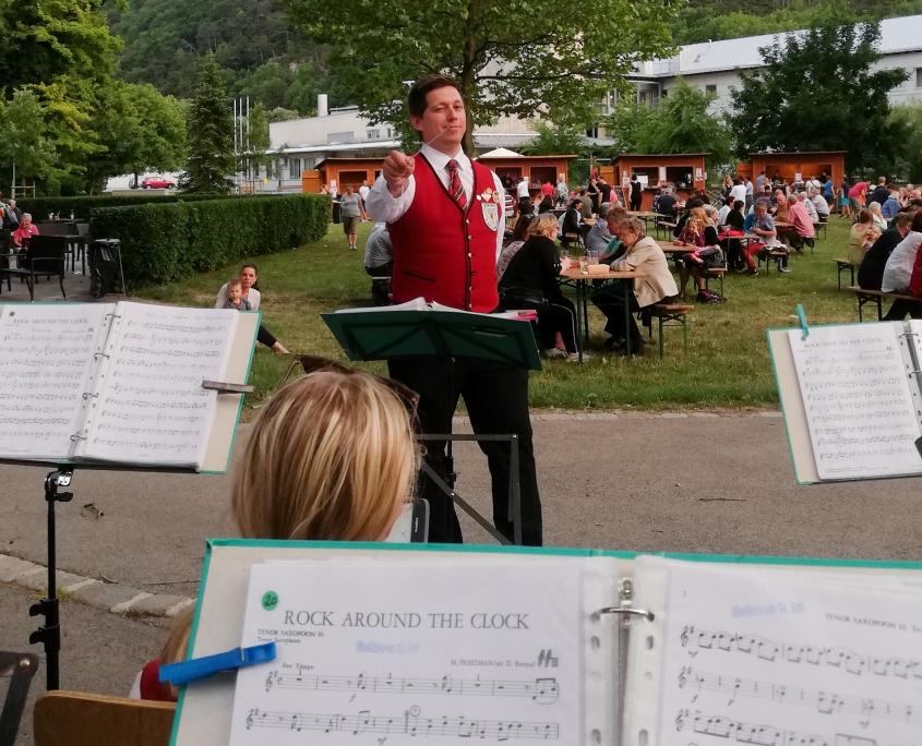 Patrick Rupprecht am Dirigentenpult